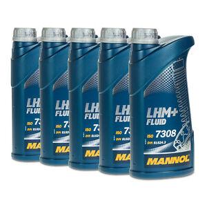 5 (5x1) Liter MANNOL LHM+ Zentralhydrauliköl/ Servoöl/ für PSA B 712710