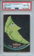 1999 Topps Pokemon TV Foil Metapod #11 PSA 8
