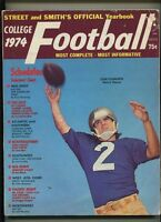 Street And Smith's Official Yearbook 1974 College Football Tom Clements   MBX90