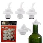 3 PCS Lever Reusable Airtight Wine Bottle Stoppers Cork ER