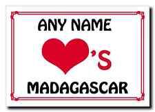 Love Heart Madagascar Personalised Jumbo Magnet