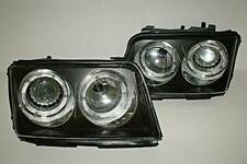 AUDI 100 1991-1994 C4 Clear Black LED HeadLights Front lamps SET Left + Right