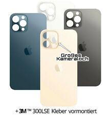 Apple iPhone 12 Pro Akkudeckel Backcover Echt Glas BIG HOLE Großes Kameraloch