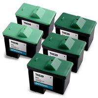 5 Pack Dell Series 1 Ink Cartridge T0529 T0530 for A920 720 Inkjet Printers