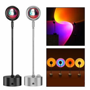 Sunset Projection Lamp Romantic Night Light 180° Rotating Floor Stand Projector