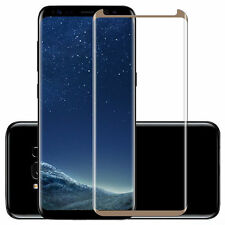 100 PCS Tempered Glass Screen Protector Samsung Galaxy S8 Anti-Scratch Gold