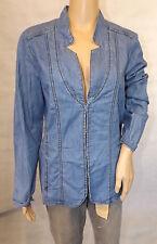 ★ GINA LAURA ★ M 40/42  Tolle Bluse ~ Tunika ~ Blusenjacke ~ Denim Jeans langarm
