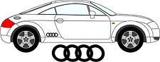 2 x Audi Anelli Bandella Laterale Adesivi Decalcomanie Colore a Scelta