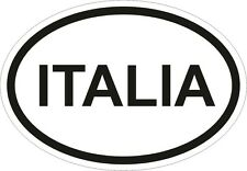 ITALIA COUNTRY CODE OVAL VINYL STICKER bumper decal International NEW ITALY CAR