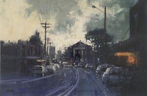 Original Oil Painting By Herman Pekel Signed Streetscape 'Balmain'