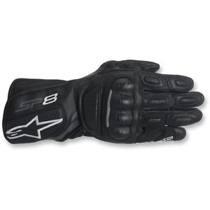 Alpinestars Stella Ladies SP8 V2 Motorcycle Leather Sports Gloves - Black / Grey