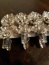 Vintage - Christmas Tree - Metal Clip On Candle Holder Lot 10 Pine Cone