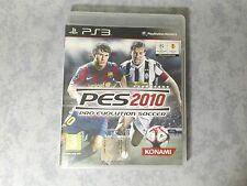 PES 2010 PRO EVOLUTION SOCCER SONY PS3 PLAYSTATION ITALIANO COMPLETO COME NUOVO
