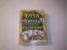 "1958 TRIVIA CHALLENGE PLAYING CARDS PLAYING CARDS ""GREAT 60TH BIRTHDAY PRESENT"""