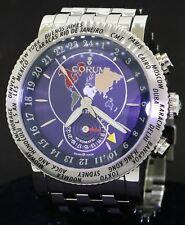 Corum World Timer GMT 983.201.20 SS high fashion automatic men's watch w/ date