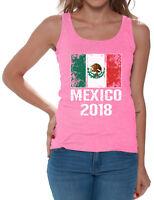 Women's Mexico Tank Top Mexican Flag Tank Soccer Mexico 2018 Mexican Gifts