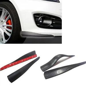 Front Rear Carbon Fiber Bumper Corner Lip Side Scratch Protector Strap Guard New