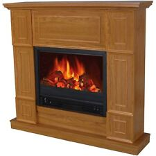 """Electric Fireplace Heater Indoor Living Room Bedroom 44"""" Mantle Realistic Flame"""