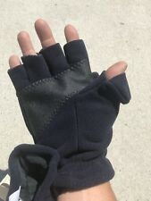 Convertible Mitt Fingerless Fishing Windblock Gloves XL Blue Wind River Simms