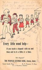 Avoca Iowa~Peoples Savings Bank~Line of Kids~Small Deposits~Emmert~Karstons~1910