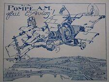 1925 PUB POMPE AM FELIX JOBBE DUVAL AVION AEROPLANE MOTEUR ORIGINAL AD