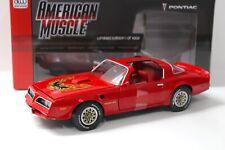 1:18 Auto World Pontiac Firebird Trans Am 1977 red NEW bei PREMIUM-MODELCARS