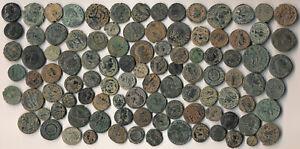 100 ANCIENT ROMAN COPPER COINS (NICE COLLECTIBLE, AUTHENTIC, BIG LOT !!!) NO RSV