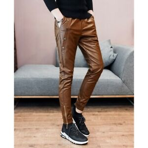 Leather Pant S Men Real Jeans Style Trousers Cow Breeches Pants Fit Mens Cargo15