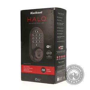 OPEN BOX Kwikset 99380-002 Halo Wi-Fi Smart Lock Keyless Entry Electronic Keypad