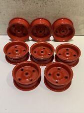 pièce détachée 8 jantes métal rouge / Diamètre 2,4 cm Largueur 1 cm
