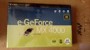 EVGA eGeForce MX4000 graphics card dual 350MHz RAMDAC 32-Bit NVDIA VPE UDA NSR