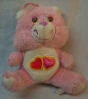 "Kenner 1983 VINTAGE Care Bears PINK LOVE-A-LOT BEAR 6"" Plush STUFFED ANIMAL Toy"