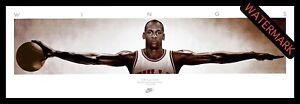 MICHAEL JORDAN CHICAGO BULLS WINGS - FRAMED LITHOGRAPH THE LAST DANCE NBA MVP