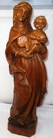 Große Holzfigur-Maria mit Jesuskind-Madonna mit Kind-geschnitzt  H.56cm
