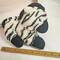 Cascade Toy VTG PUPPET Plush Stuffed Animal Baby Zebra Stripe Black White Zoo