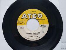 """BOBBY DARIN - Milord / Golden Earrings 1964 ATCO 7"""" Pop Rock"""