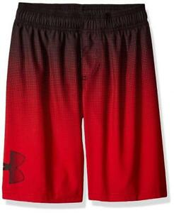 Under Armour Boys Red & Black Printed Swim Short Size 5