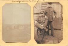 RPPC BELGIUM CAMP POW SOLDIER'S WW1 MILITARY REAL PHOTO POSTCARD WNC 140