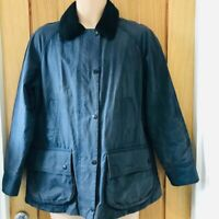 Ladies Barbour Navy Blue Beadnell Wax Jacket Size 12 Ex Cond!