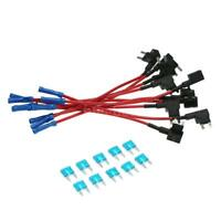 10Pcs 12V ATM APM Car Add-a-circuit Fuse TAP Adapter Mini Blade Fuse Holder F3G7