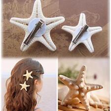 Girls Lady Beach Jewelry Starfish Hair Clip Hairpin Star Sea for 2 Pcs