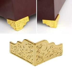 20 PCS Gold Jewelry Box Wood Case Decorative Feet Leg Corner Protector Furniture