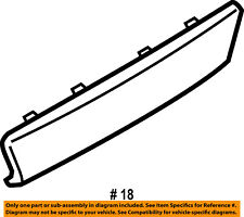 FORD OEM 16-17 Explorer Rear Bumper-Trim Molding FB5Z17F000BPTM