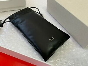 Sunglasses Case Eyeglasses Celine Paris Black Pouch Cloth Small