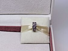 New Pandora Pink & Purple Mosaic Shining Elegance Charm Clip 791817CZSMX