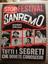 STOP SETTIMANALE RIVISTA GIORNALE SPECIALE SANREMO 1968 CELENTANO ALBANO MODUGNO