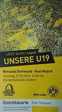 TICKET UYL 2016/17 Borussia Dortmund vs Real Madrid