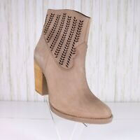 New Coolway Tan Leather Ankle Boots Size 9 Womens Pointed Toe Western