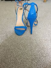 River Island Ladies Strappy Sandals Blue Size 6 Leather New Without Box Cost £45