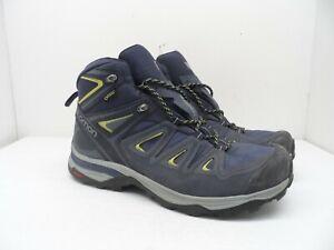Salomon Women's X Ultra 3 Mid GTX Hiking Boot Crown Blue/Evening Blue/Lime 10.5M